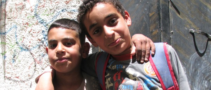 Fra Balata flyktningeleir i Nablus