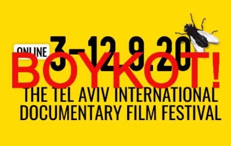 Boikott filmfestivalen i Tel Aviv 3.-12. 9.2020