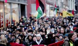 Fra demonstrasjon Gaza-krigen 2008