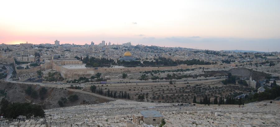 Oversiktsbilde fra Jerusalem. Palestinerne blir fordrevet fra Øst-Jerusalem med rå makt.