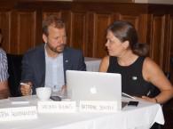 Heikki Holmås og Kathrine Jensen, leder av Palestinakomiteen