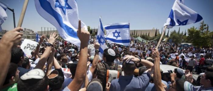 Settlere demonstrerer i Jerusalem